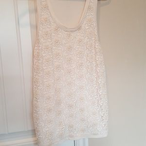 Daisy lace tank top